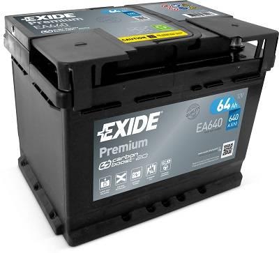 Exide EXIDE Premium 12V 64Ah 640A jobb+ autó akkumulátor