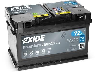 n/a EXIDE Premium 12V 72Ah 720A jobb+ autó akkumulátor