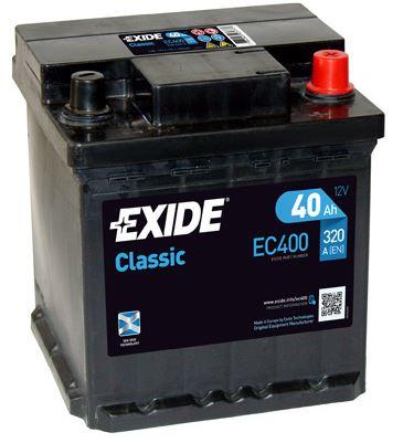 Exide EXIDE Classic 12V 40Ah 320A jobb+ autó akkumulátor
